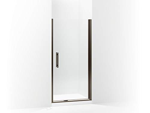 (Sterling 5698-39ADR-G05 Finesse Peak Frameless Pivot Shower Door with Clear Glass, 39-in W x 67-in H, Deep)