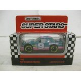 Super Stars #9 Mike Wallace FDP Brakes Racing Nascar In Pink & Green Diecast 1:64 Scale By Matchbox - Antique Matchbox Cars