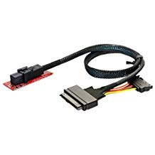 Cablecc U.2 U2 Kit SFF-8639 NVME PCIe SSD Adapter & Cable for Mainboard Intel SSD 750 p3600 p3700 M.2 SFF-8643