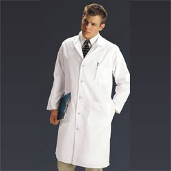 MDT14WHT44E - Mens Full Length Lab (Mens Staff Length Lab Coat)