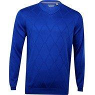 Ashworth Men's Diamond Texture Pima Sweater (2XL, Deep - Ashworth Pullover Lightweight