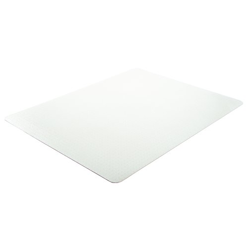 Deflecto EconoMat Clear Chair Mat, Low Pile Carpet Use, Rectangle, Straight Edge, 36 x 48 Inches (CM11142)