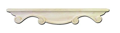 (Scroll Pedestal Foot Center, Rubberwood - by Castlewood)