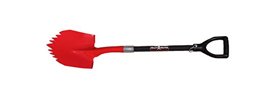 Super Shovel by Krazy Beaver Heavy Duty Spiked Shovel Tempered Steel American Made (Black Edition)