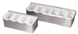 Royal Industries 5-Compartment Condiment Server, Stainless Steel, Silver