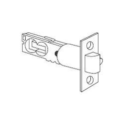 Schlage 16-210 F-Series 1 x 2.25 Inch Triple Option Round Corner, Square Corner,, Satin Nickel ()