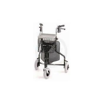 Amazon.com: 3 con ruedas andador, Color negro – Cesta de ...