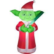(5 Feet Tall Star Wars YODA Christmas Airblown Inflatable Air Blown)