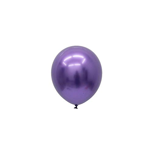 10pcs Chrome Metal Long Balloons Thick Chrome Metallic Colors Inflatable Air Ball Globos Birthday Party Decoration,deep Purple 12inch]()