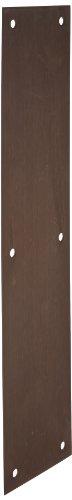Rockwood 70B.10B Bronze Standard Push Plate, Four Beveled Edges, 15