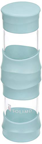 Amazon Brand – Solimo Borosilicate Glass Sports Bottle, 470 ml, Blue Price & Reviews