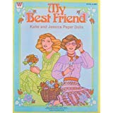 Whitman MY BEST FRIEND Katie & Jessica PAPER DOLLS Book UNCUT w 2 Dolls & MORE! (1980)