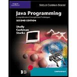 Java Programming - Comprehensive Concepts (2nd, 04) by Shelly, Gary B - Cashman, Thomas J - Starks, Joy L - Mick, M [Paperback (2003)]