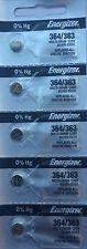 Energizer Batteries 364/363 (SR621W, SR621SW) Silver Oxide Watch Battery. On Tear Strip (Pack of 5)