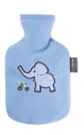 Fashy Wärmflasche Kind Flauschbezug hellblau, 0.8 L, 1er Pack (1 x 1 Stück)