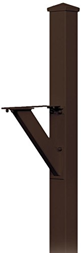 Salsbury Industries 4825BRZ In-Ground Mounted Post Modern Decorative Mailbox, Bronze