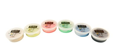 Cando Theraputty Exercise Material - 6 Oz - 6-Piece Set (Tan-Black) - 10-1483 by Theraputty