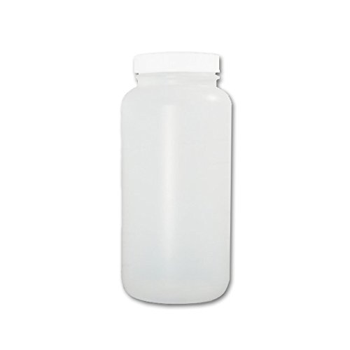 Mouth Environmental Sample Bottle - Certified Clean 32oz Wide Mouth Sample Bottle, HDPE, Bulk, case/72