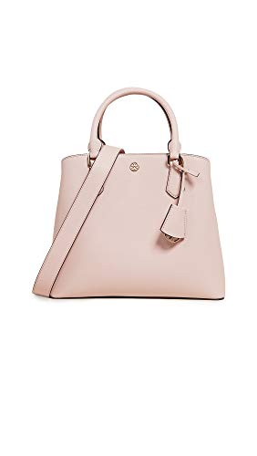 Tory Burch Women's Robinson Medium Triple Compartment Tote, Shell Pink, One ()