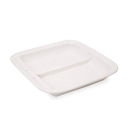 Vollrath 49136 Divided Square Porcelain Food Pan for Induction Chafer