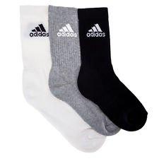a8cdba728fc Adidas Men's Cotton Blend Half Cushion Crew Socks (Assorted, Medium) - Pack  of 3
