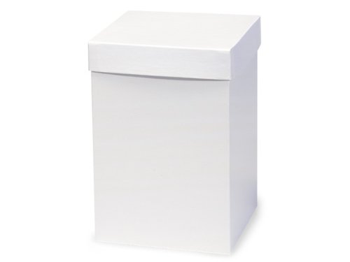 Pack of 50, White Gloss Hi-Wall 6 x 6 x 9'' 100% Recycled Giftware Box Base Use Food Safe Barrier Like Food Grade Tissue or Cello for Food Packaging(Lids Sold Separately) by Generic