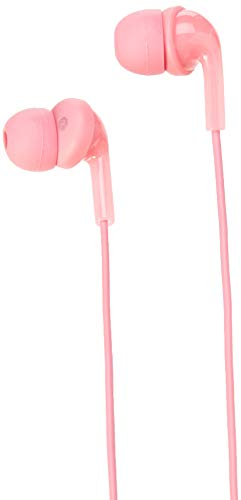 AmazonBasics Ear Headphones Mic Pink product image