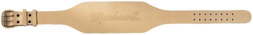 Markwort 6-Inch Unpadded Weightlifting Belt, Tan, X-Large