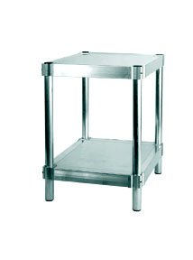 PVIFS N203036-2 Equipment Stand with 2 Adjustable Solid Shelves, 400 lbs Shelf Capacity, 36'' Length x 20'' Width x 30'' Height by PVIFS