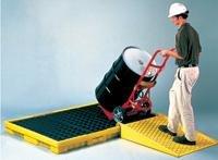 - Eagle 1686 Polyethylene Low Profile Spill Containment Platform, 6 Drum, 77