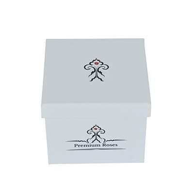 Premium Roses | Model White| Real Roses That Last 365 Days | Fresh Flowers| Roses in a Box (White Box, Medium) by Premium Roses (Image #2)