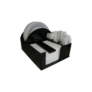 Paper Plate Holder Napkin Dispenser Knife Fork Spoon Barbecue Organizer BBQ or Picnic Caddy  sc 1 st  Amazon.com & Amazon.com - Paper Plate Holder Napkin Dispenser Knife Fork Spoon ...