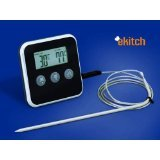 eKitch digital food probe thermometer and timer - great gadget for barbeque, baking and roasting