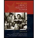 Liberty, Equality, Power A History of the American People, Vol. II Since 1863, Concise Edition by Murrin, John M., Johnson, Paul E., McPherson, James M., Gers [Cengage Learning,2010] [Paperback] 5TH EDITION