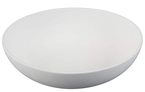 Creative Hobbies 11 Inch Coupe Serving Bowl, Case of 6, Unfinished Ceramic Bisque, with How to Paint Your Own Pottery Booklet