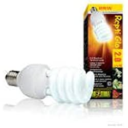 Pet Exo Terra Repti-Glo 10.0 Compact Fluorescent Desert Terrarium Lamp, Size: 26-Watt Supply Store/Shop
