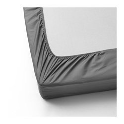 Ikea Fitted sheet, gray , Twin