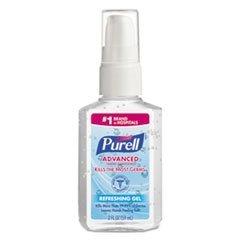 Purell Advanced Hand Sanitizer Refreshing Gel, Pump Bottle, 2 Ounce