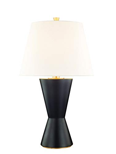 Hudson Valley L1042-MB Ashland Table Lamps, 1-Light 150 Watts, Matte Black