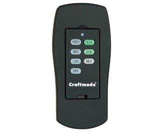 Craftmade CXL-ICS-W, Wall Control with Clamshell Remote, 3 Fan Speeds and Reverse, White by Craftmade