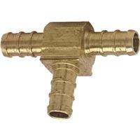 Watts PEX LFP-1142 Tee 1-Inch x 1-Inch x 1/2-Inch Barb Low-Lead, Brass (Potable Bathtub)
