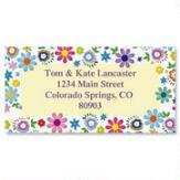 Cheerful Florals Self-Adhesive, Flat-Sheet Border Address - Border Address Labels