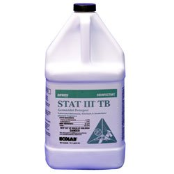 Ecolab 61178505 Disinfectant, Hospital-Grade Stat III TB Disinfectant Cleaner, Case of (4) One Gallon Bottles by Ecolab
