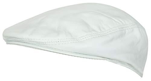 Men's White Real Soft Leather Ivy Beret Newsboy Gatsby Golf Cabbie Flat Cap Hats S ()