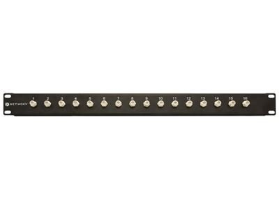 Networx 16 Port Fully Loaded F-Type Coaxial Patch Panel - 1U