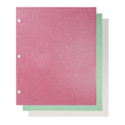 Divoga(R) Fashion Portfolio Folders, 9 1/2in. x 11 1/2in., Letter Size, Merry Bright, Pack Of 3