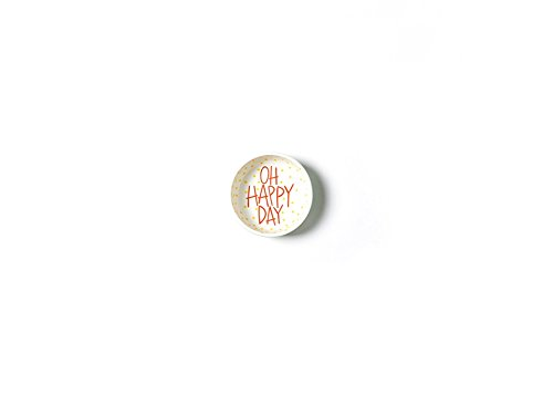 Happy Everything! Mint Stripe Oh Happy Day Dipping Bowl
