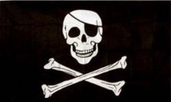 Pirate Skull & Cross Bones with Eye Patch Large 3 X 5 Feet Flag Banner .. Jolly Roger Great Quality ... New