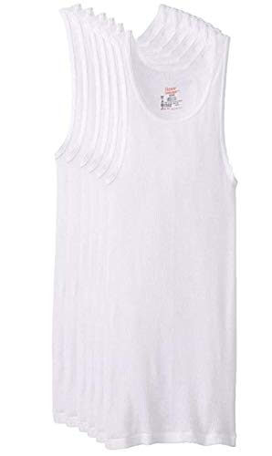 6-Pack Tank Top, White, Large
