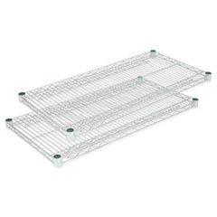 Extra Alera Shelves (Alera SW582418SR Industrial Wire Shelving Extra Wire Shelves, 24w x 18d, Silver, 2 Shelves/Carton)